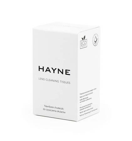 Chusteczki nawilżane do czyszczenia okularów Hayne 30 szt.